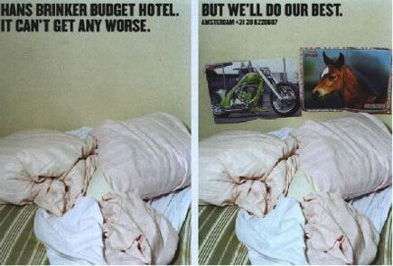 Реклама отеля в Амстердаме: Хуже не бывает? Но мы будем стараться!