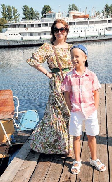 Ольга Будина и ее сын Наум на кинофоруме в Выборге