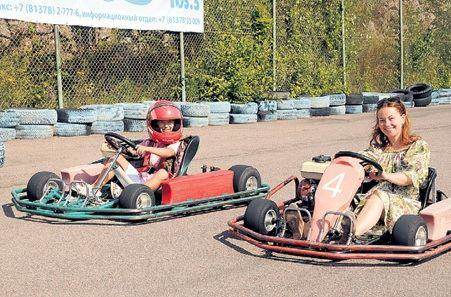 Веселые гонки Ольги Будиной с сыном