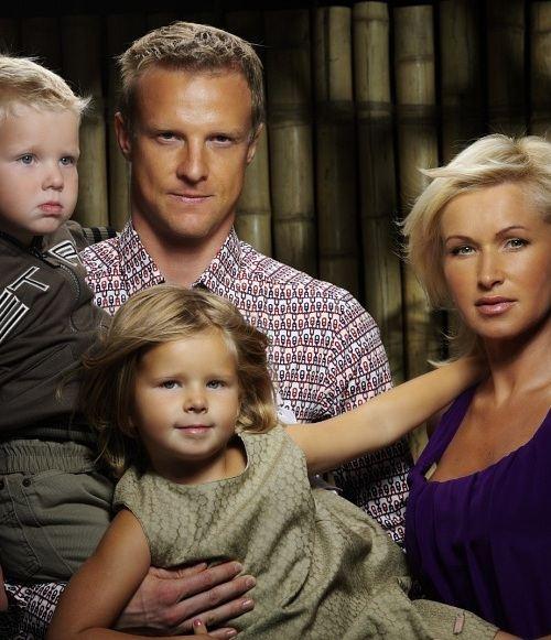Вячеслав Малафеев с супругой Мариной и детьми
