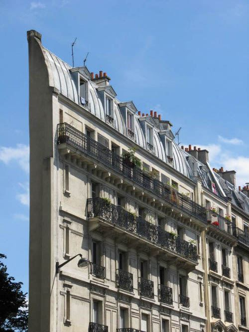 Узкие дома. Париж