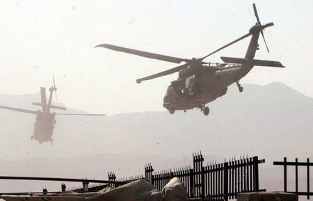 В Сирии близ селения Дума под Дамаском рухнул военный вертолет