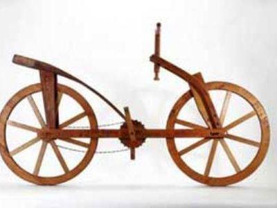 Деревянный велосипед Леонардо да Винчи