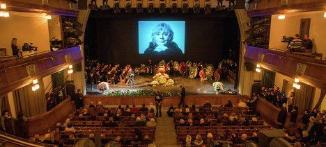Прощание с Мариной Голуб в Москве