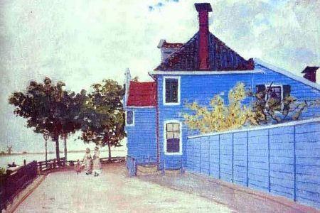 Клод Моне «Голубой дом в Заандаме»