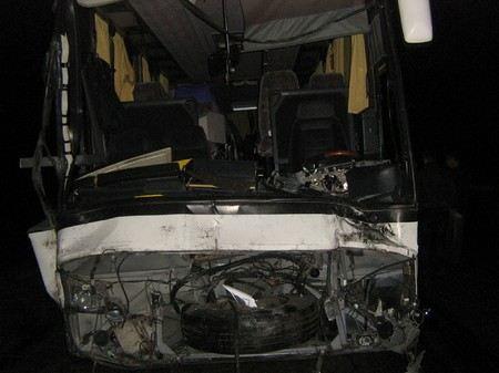 В Вокресенском районе Подмосковья произошла автомобильная авария с участием автобуса.