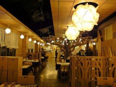 Картонный ресторан