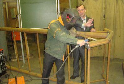 Работа над конструкцией тренажера