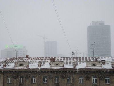 В Новосибирске не прекращается снегопад