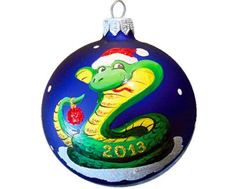 Символ Нового года на ёлочных игрушках
