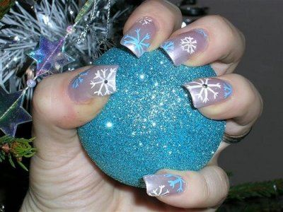 На ногтях нарисуют зиму