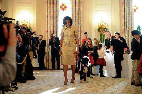 Мишель Обама и Бо