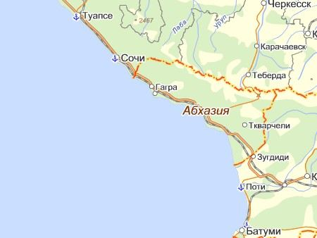 В Абхазии у озера Рица рухнул российский пограничный вертолет МИ-8.