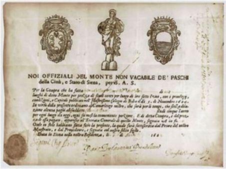 Один из первых банковских документов