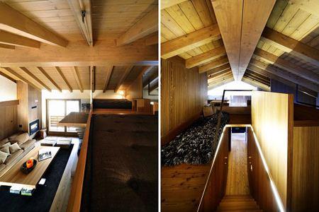 Деревянный дизайн интерьера