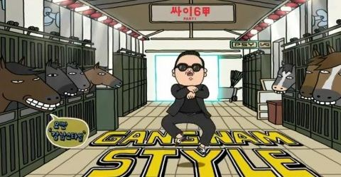 Кадр из клипа Gangnam Style