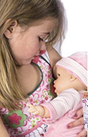 Теперь девочки смогут почти по-настоящему кормить своих игрушечных детей