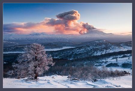 На Камчатке извергается вулкан Кизимен, авиационной опасности присвоен «оранжевый» код.