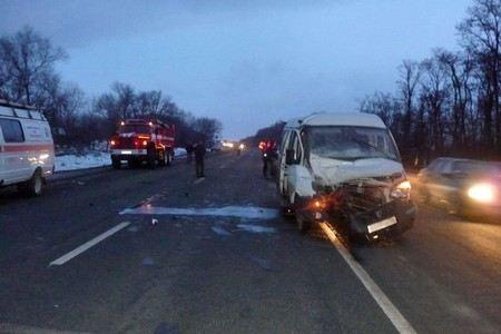 В Истринском районе Московской области произошла авария с участием маршрутки.
