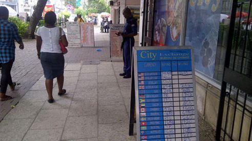 Танзания. Частный охранник на посту