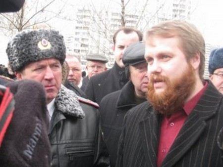 Националиста Дмитрия Демушкина задержали сегодня в здании Мосгорсуда.