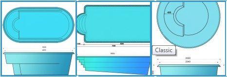 Модели композитных бассейнов «Composite»