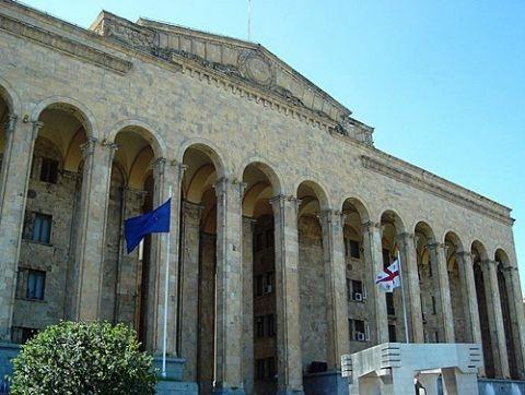 Здания парламента Грузии в Тбилиси.