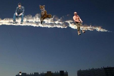 Путин оседлал метеорит на Урале