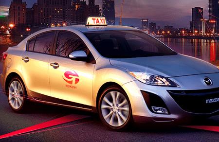 Автомобиль Службы такси в аэропорт.