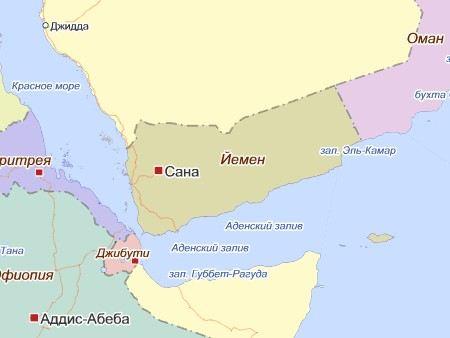 В столице Йемена, Сане на городскую площадь упал военный самолет.