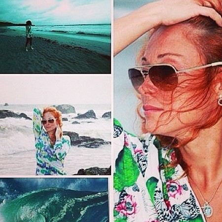 Victoria Tarasova posted on the Internet their photos from the holidays.