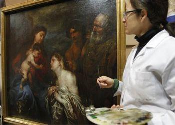 Картина «Дева Мария с младенцем и раскаявшиеся грешники» долго считалась копией