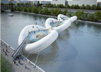 В Париже соорудят первый надувной мост-батут через Сену