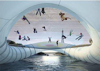 Пользу батут в Париже принесет простым людям, туристами и спортсменам