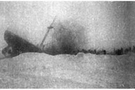 Пароход, раздавленный льдами - фото из кинохроники