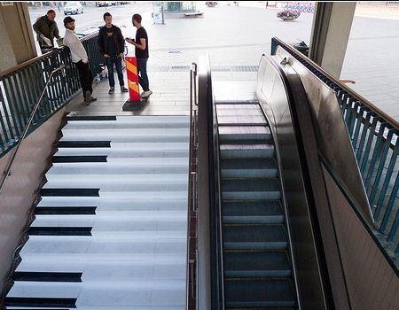 Лестница-фортепиано