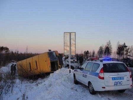 В Вологодской области в ДТП пострадали 18 воспитанников детского дома.