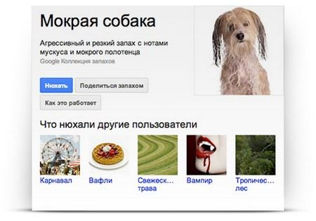 Google offers users search by smell.