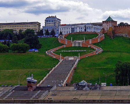 Nizhegorodskaya Chkalovskaya stairs