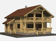 Деревянный дом ручной работы