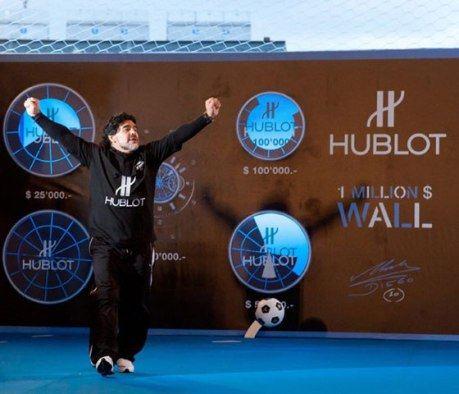 Марадона носит часы Hublot