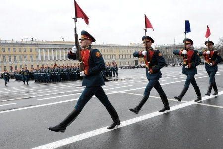 Репетиция военного парада в Санкт-Петербурге
