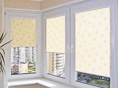 Готовые рулонные шторы на пластиковые окна