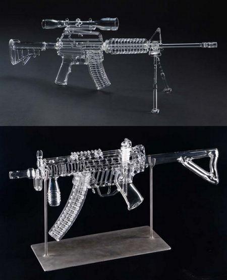 Огнестрельное оружие из стекла