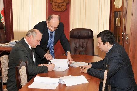 Подписание договора с ОАО Куриное царство