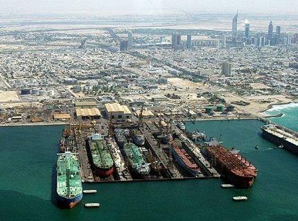 Порт в городе Дубай