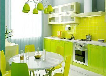 В моде зеленые кухни