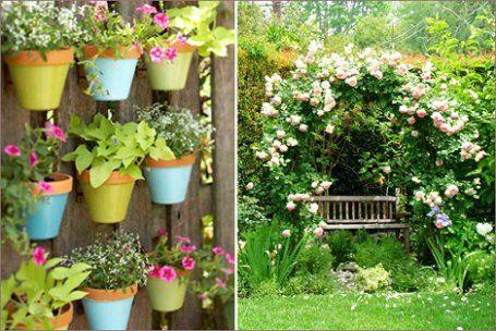 Забор и стены дома тоже можно использовать для реализации дизайнерских и садоводческих талантов