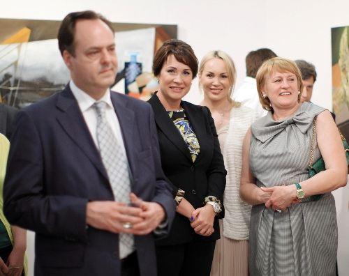посол Хорватии Томислав Видошевич, Лада Фирташ (жена Дмитрия Фирташа), Екатерина Суркис, Наталья Кулешова