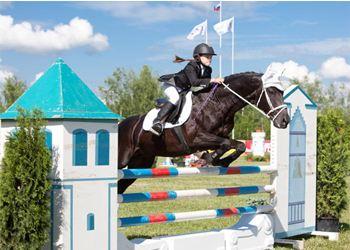 В Екатеринбурге прошли соревнования среди детей по конному спорту